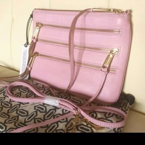 🔥SALE🔥 Rebecca Minkoff Pink 3 Zip Crossbody Bag